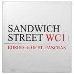 SANDWICH STREET  Napkins