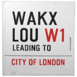 WAKX LOU  Napkins