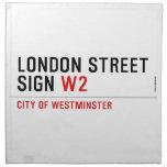 LONDON STREET SIGN  Napkins