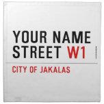 Your Name Street  Napkins