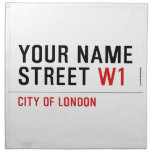 Your Name Street  Napkins