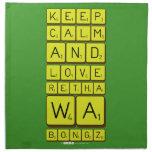 keep calm and love Retha wa Bongz  Napkins