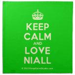 [Crown] keep calm and love niall  Napkins