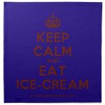 [Crown] keep calm and eat ice-cream  Napkins