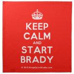 [Crown] keep calm and start brady  Napkins