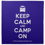 [Campervan] keep calm and camp on  Napkins