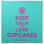 [Cupcake] keep calm and love cupcakes  Napkins