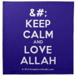 [No Crown] keep calm and love allah  Napkins