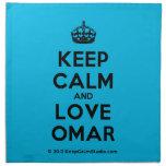 [Crown] keep calm and love omar  Napkins