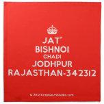 [Crown] jat' bishnoi chadi jodhpur rajasthan-342312  Napkins