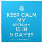 [Cupcake] keep calm my birthday is in 9 days!!  Napkins
