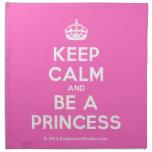 [Crown] keep calm and be a princess  Napkins
