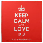 [Crown] keep calm and love pj  Napkins