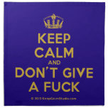[Dancing crown] keep calm and don't give a fuck  Napkins