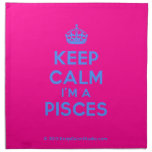 [Crown] keep calm i'm a pisces  Napkins