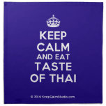 [Crown] keep calm and eat taste of thai  Napkins