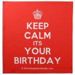 [Cupcake] keep calm its your birthday  Napkins