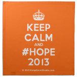 [Crown] keep calm and #hope 2013  Napkins