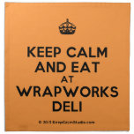 [Crown] keep calm and eat at wrapworks deli  Napkins