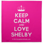 [Knitting crown] keep calm and love shelby  Napkins
