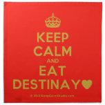 [Crown] keep calm and eat destinay♥  Napkins