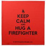 [Campfire] keep calm and hug a firefighter  Napkins