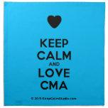 [Love heart] keep calm and love cma  Napkins