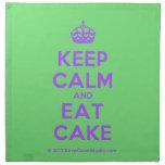 [Crown] keep calm and eat cake  Napkins