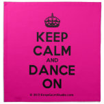 [Crown] keep calm and dance on  Napkins