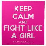keep calm and fight like a girl  Napkins