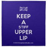 [UK Flag] keep a stiff upper lip  Napkins