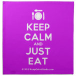 [Cutlery and plate] keep calm and just eat  Napkins