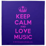 [Dancing crown] keep calm and love music  Napkins