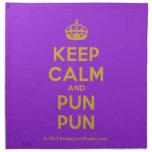 [Crown] keep calm and pun pun  Napkins