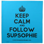 [Crown] keep calm and follow supsophie  Napkins