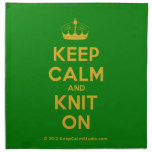 [Knitting crown] keep calm and knit on  Napkins