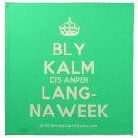 [Crown] bly kalm dis amper lang- naweek  Napkins