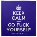 [Crown] keep calm and go fuck yourself  Napkins