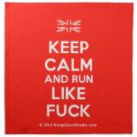 [UK Flag] keep calm and run like fuck  Napkins