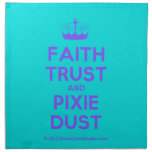 [Knitting crown] faith trust and pixie dust  Napkins