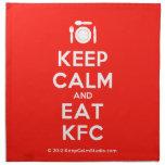 [Cutlery and plate] keep calm and eat kfc  Napkins