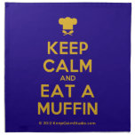 [Chef hat] keep calm and eat a muffin  Napkins