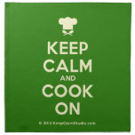 [Chef hat] keep calm and cook on  Napkins
