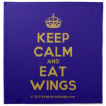 [Crown] keep calm and eat wings  Napkins
