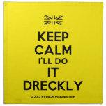 [UK Flag] keep calm i'll do it dreckly  Napkins