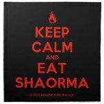 [Campfire] keep calm and eat shaorma  Napkins