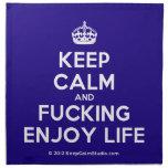 [Crown] keep calm and fucking enjoy life  Napkins