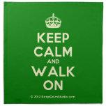 [Crown] keep calm and walk on  Napkins