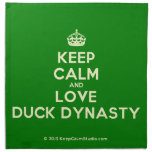 [Crown] keep calm and love duck dynasty  Napkins