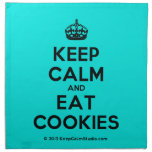 [Crown] keep calm and eat cookies  Napkins